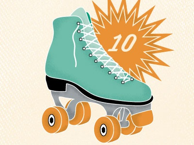 Retro Skate Kid's Party Invite
