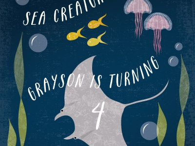 Sea Life Children's Birthday Invite