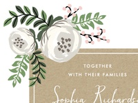 Krafted Florals Wedding Invitation Suite