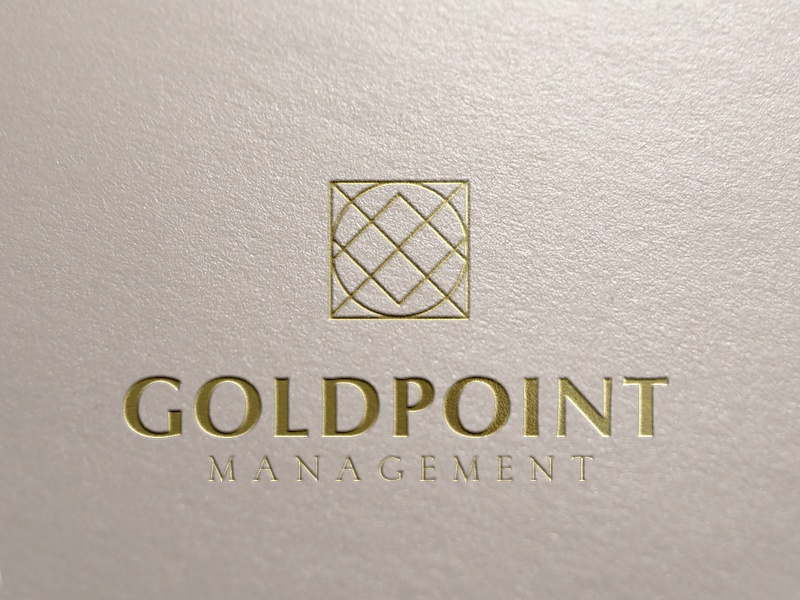 Goldpoint Logo Concept realty real estate management identity branding logo