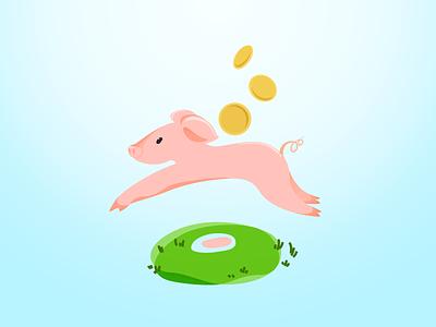 little piggy crossed my mind illustration