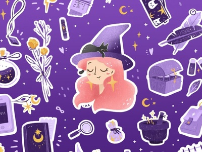 This is April witch illustration