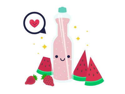 Illustration : Smoothie 03 freepik drinks healthy juice smoothie strawberry watermelon