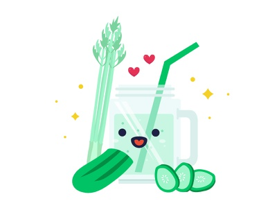 Illustration : Smoothie 04 drinks juice smoothies celery cucumber
