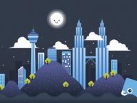 Illustration - KL City Night