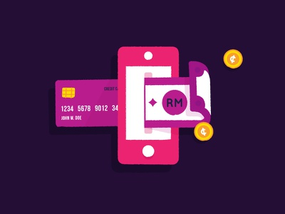 Icon - Digital Money credit card mobile transaction cash money wallet digital money e-money