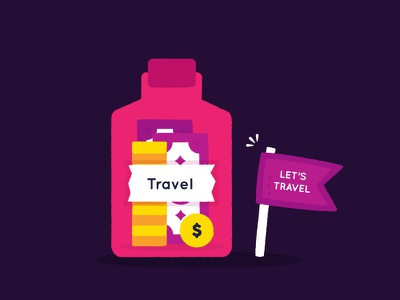 Icon - Travel icon places coin money travel