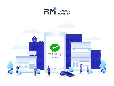 Illustration : WeChat Pay bank payment fintech wallet wechat pay wechat