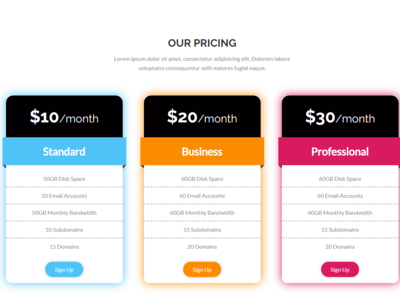 Pricing Table css html5 html price table price list price