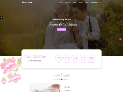 Lavender - Wedding Event, Planner & Coming Soon HTML Template groom bride couple wedding invitaion wedding planner wedding event wedding design wedding