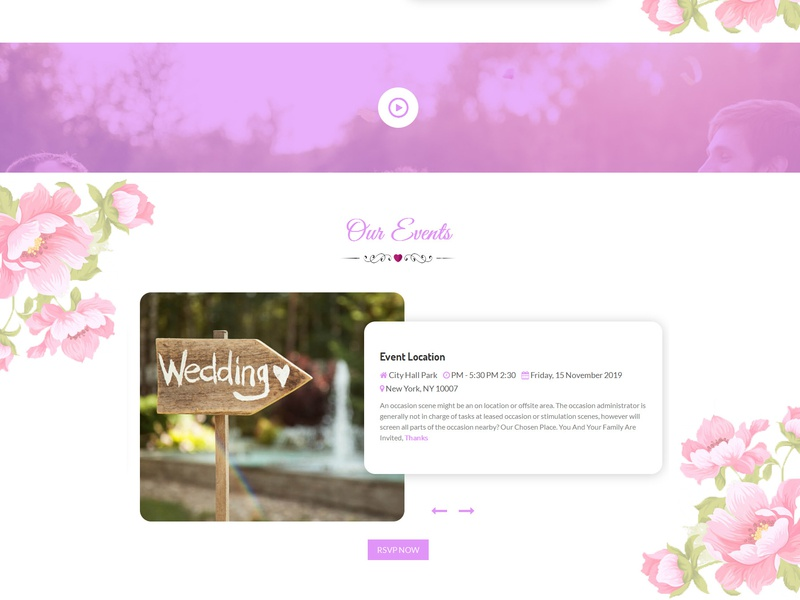Lavender - Wedding Event, Planner & Coming Soon HTML Template wedding video wedding event