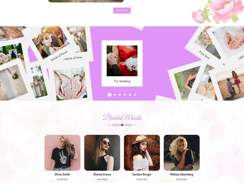 Lavender - Wedding Event, Planner & Coming Soon HTML Template bridesmaid gallery wedding gallery