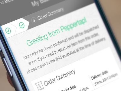 Order Summary ui cart order summary ios billing confirmation message