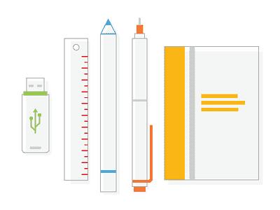 Tools for designer web design flat icon illustration line icon