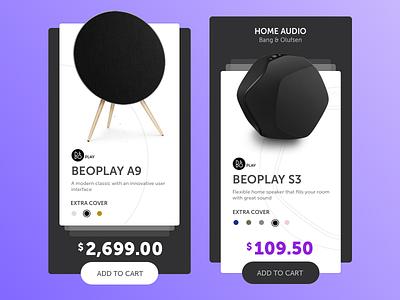 #3 Shopping Card speaker cart music black ux ui website e-commerce web card shopping