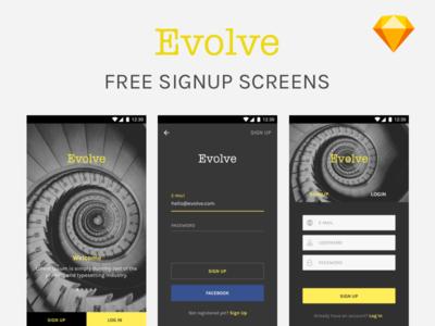 Freebie - Sign Up screens