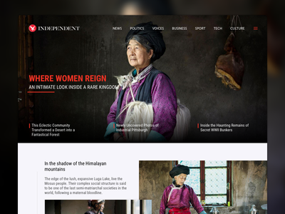 The Independent - Concept independent dark black red ux ui clean blog website web