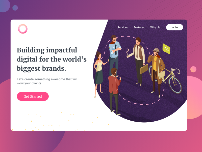 Hype - Landing Page gradient colourful business people web illustration landing page isometric