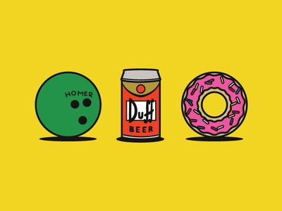 Homer Icons icons illustration simpsons doh homer simpson