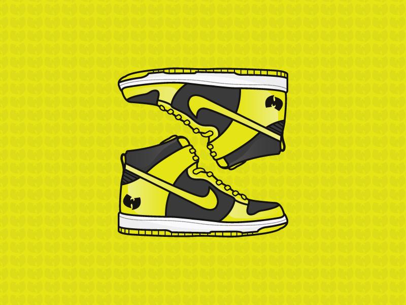 buy online cdf58 36a35 Wu Tang Clan Nike Dunk High by Michael Walchalk on Dribbble
