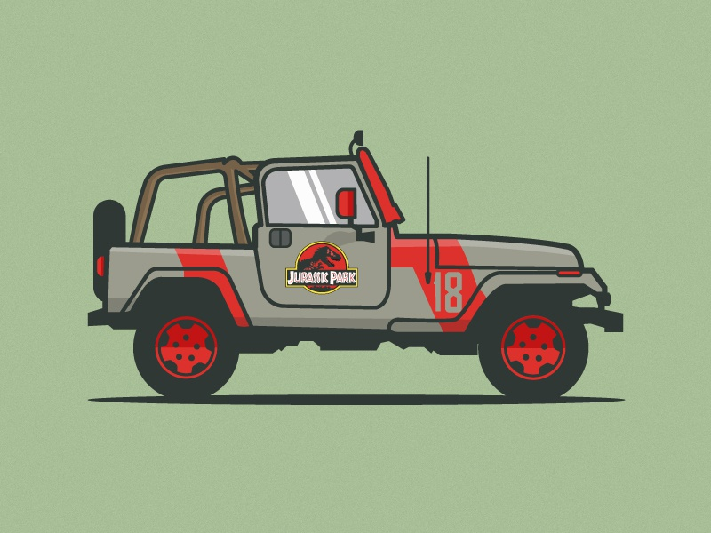 Jurassic Park Jeep By Michael Walchalk Dribbble Dribbble