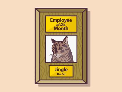 Employee of the Month employee of the month illustration cat plaque