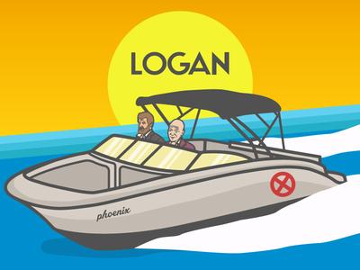 Logan wolverine x-men xavier logan illustration