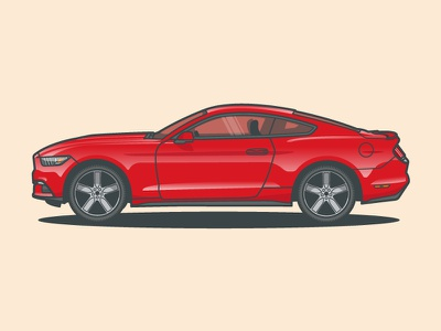 Ford Mustang ford mustang ford mustang vector car illustration
