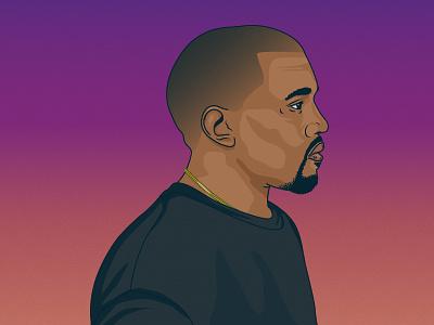 Kanye West kanye west yeezus yeezy portrait illustration profile