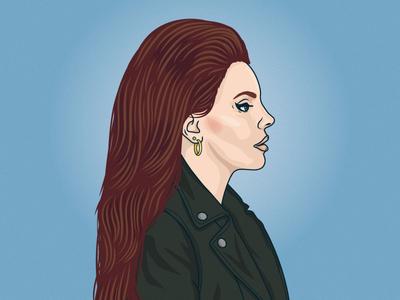 Lana Del Rey lana del rey illustration vector portrait