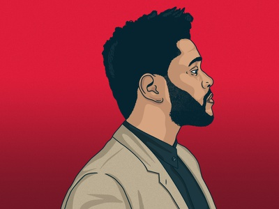 The Weeknd the weeknd vector portrait illustration