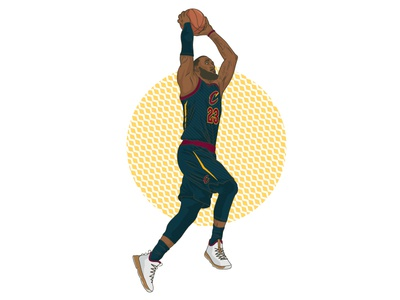 Lebron James - Instagram Feature lebron james instagram basketball nba vector portrait