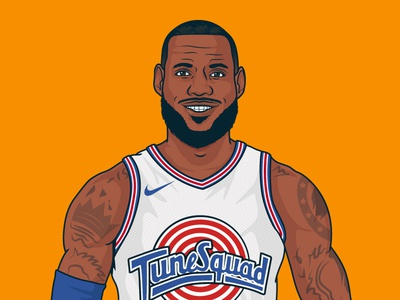 Space Jam 2 vector space jam lebron james basketball illustration