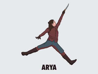 Air Arya game of thrones arya stark jordan nike vector basketball illustation