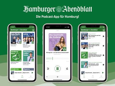 Hamburger Abendblatt — Podcast ios app news hamburg figma iphone app ux ui amalchenko podcast ios