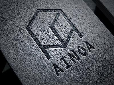 AINOA card design letterpress design logo
