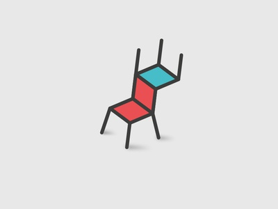 Chairaffe vector isotype brand symbol