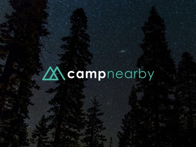 Campnearby outdoor camp icon logo brand