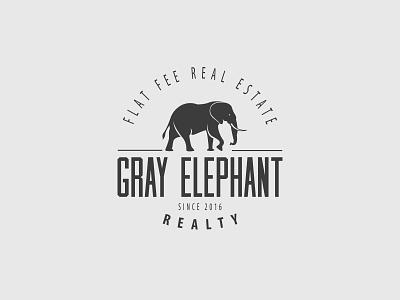 Gray Elephant logo elephant real estate