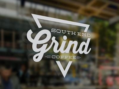 South End Grind Coffee vintage coffee logo