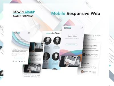 Bigwin web and mobile typography illustration ux intelligence branding design website interface product ui
