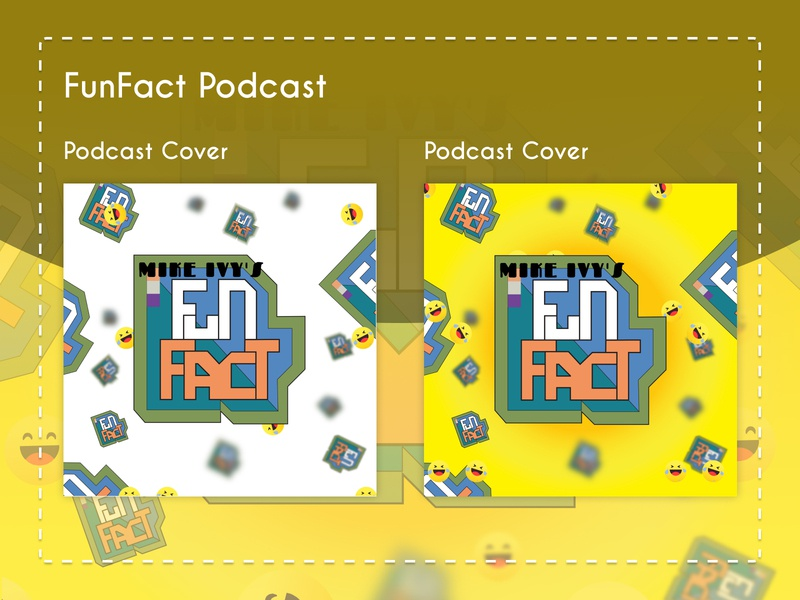 Funfact Podacst icon typography product ui vector logo illustration cover design podcast logo podcast art podcast podcast cover fun