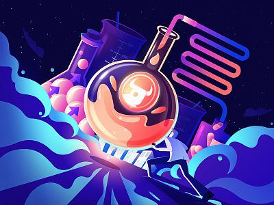 Future Lab scientist laboratory experiment business affairs lab illustration