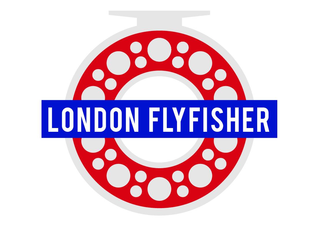 London Fly Fisher illustration branding vector london underground tfl tube design fly fishing vlog reel illustrator logo flyfishing london