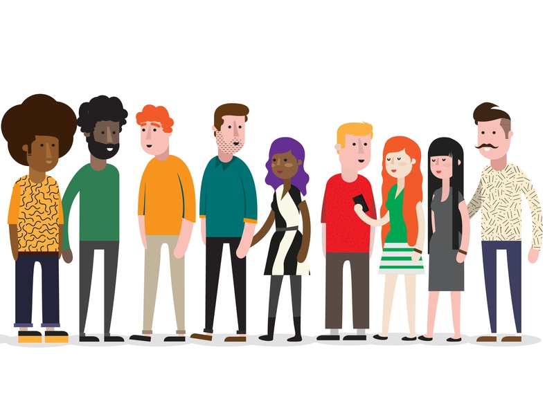 Who invited those guys? hipsters characters people design vector illustration