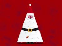 Santa Tree Christmas Card