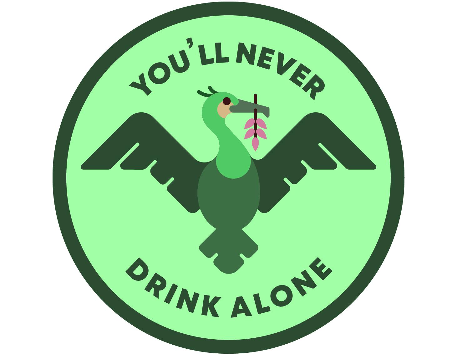 Liverbird Coaster bird illustration seaweed green cormorant coaster drink alone walk never youll liverbird bird liverpool fc liverpool vector illustration