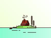 Log Cabin Island