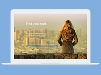 Find your spot landing page