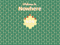 404 page - Middle of nowhere